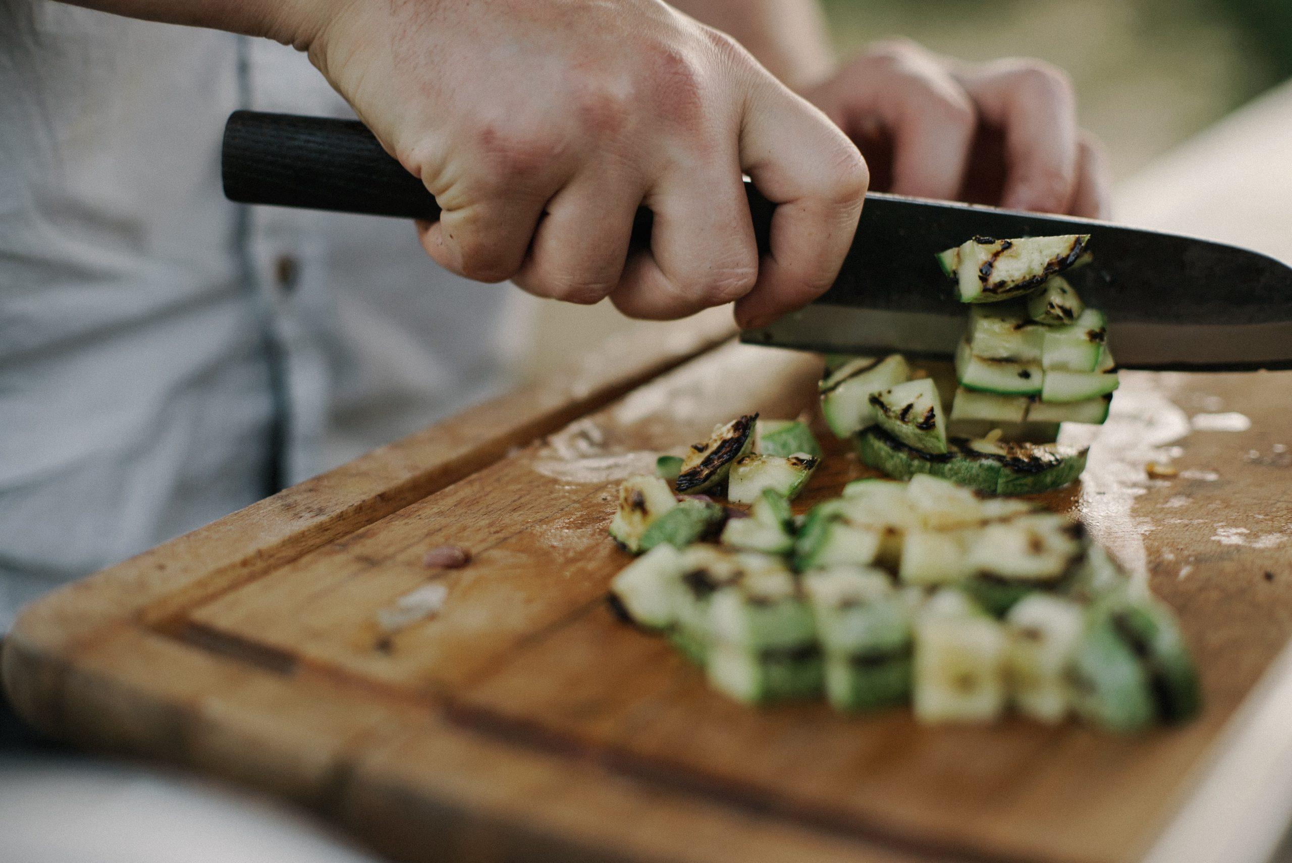 Cook along - cutting veg
